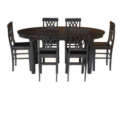 Sierra Living Concepts - Portland Modern 7pc Oval Dining Table & Chairs Set - Add an attractive piece of dining furniture in your dining room.
