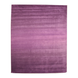 EORC - HL1PP Purple Hand Tufted Wool Purple Horizon Rug, 7'9 x 9'9 - Hand Tufted Wool Purple Horizon Rug
