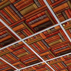 Custom Printed FoldScape Drop Ceiling Tiles - Custom printed drop ceiling tiles transform any basement, living area or office space with color or pattern. Custom match your ceiling to your furniture, paint or anything you like.