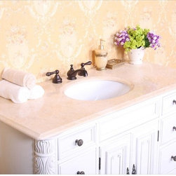 Legion Furniture - Legion Furniture 49W x 22D in. Victoria Stone Vanity Top Multicolor - LGN416 - Shop for Bathroom Counter Tops from Hayneedle.com! Freshen up old-world romance with the Legion Furniture 49W x 22D in. Victoria Stone Vanity Top. Crafted with a slab of -inch thick squared-edge granite in your choice of Baltic brown or Egypt beige marble this countertop will nicely complement any bathroom decor style. Vanity top features an oval sink cutout and three pre-drilled faucet holes for an 8-inch spread. About Legion FurnitureLegion Furniture is a Sacramento California-based company that specializes in commercial and residential furniture. The company offers thousands of items all made by expert craftsmen. Their product lines incorporate a wide variety of styles to address the needs of every designer. From contemporary vanities to traditional barstools Legion Furniture can outfit your home in the style of your dreams.