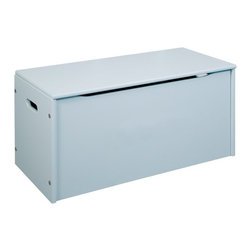 Little Colorado - Little Colorado Toy Storage Chest - 058PB - Shop for Childrens Toy Boxes and Storage from Hayneedle.com! Years of durable simplicity is what you get when you open the Little Colorado Toy Storage Chest. Constructed of solid hardwoods this 34 lb. chest features smooth and safe hinges to open the lid and keep it open. Choose from the pink powder blue or white finishes. Some assembly is required.Little Colorado is a Green CompanyAll finishes are water-based low-VOC made by Sherwin Williams and other American manufacturers. Wood raw materials come from environmentally responsible suppliers. MDF used is manufactured by Plum Creek and is certified green CARB-compliant and low-formaldehyde. All packing insulation is 100% post-consumer recycled. All shipping cartons are either 100% post-consumer recycled or are made of recycled cardboard.About Little ColoradoBegun in 1987 Little Colorado Inc. creates solid wood hand-crafted children's furniture. It's a family-owned business that takes pride in building products that are classic stylish and an excellent value. All Little Colorado products are proudly made in the U.S.A. with lead-free paints and materials. With a look that's very expensive but a price that is not Little Colorado products bring quality and affordability to your little one's room.