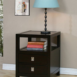 None - Norwich Two-drawer Side Table - This classic two-drawer console table is the perfect addition for any home. Offering sleek storage and constructed from durable rubberwood, this dark espresso accent table is perfect for those small areas that need extra storage space.