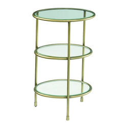 "Hammary - Hidden Treasures Three Tiered Accent Table - ""Hammary's Hidden Treasures collection is a fine assortment of unique accent pieces inspired by some of the greatest designs the world over. Each selection is rich in Old World icons and traditions."