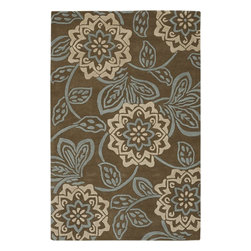 Chandra - Chandra Rowe Transitional Hand Tufted Floral Rug X-675-21111WOR - Chandra Rowe Transitional Hand Tufted Floral Rug X-675-21111WOR