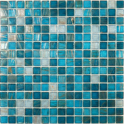 "Glass Tile Oasis - Blue Copper Blend 3/4"" x 3/4"" Blue Gem Series Glossy Glass - We offer six lines of in-stock designs ready for immediate delivery including: The Aquatic Line, The Shadow Line, The Hang 10 Line, The Medallion Line, The Garden Line and The Peanuts Line. All of the mosaics are frost proof, maintenance free and guaranteed for life. Our Aquatic Line includes: mosaic dolphins, mosaic turtles, mosaic tropical and sport fish, mosaic crabs and lobsters, mosaic mermaids and other mosaic sea creatures such as starfish, octopus, sandollars, sailfish, marlin and sharks. For added three dimensional realism, the Shadow Line must be seen to be believed. Our Garden Line features mosaic geckos, mosaic hibiscus, mosaic palm tree, mosaic sun, mosaic parrot and many more. Put Snoopy and the gang in your pool or bathroom with the Peanuts Line. Hang Ten line is a beach and surfing themed line featuring mosaic flip flops, mosaic bikini, mosaic board shorts, mosaic footprints and much more. Select the centerpiece of your new pool from the Medallion Line featuring classic design elements such as Greek key and wave elements in elegant medallion mosaic designs."