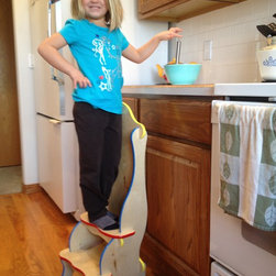 Children and kids's furniture store - 2 Step Stool (primary colors). Model: Acila (6).