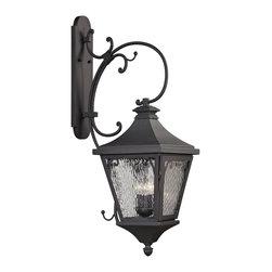 Elk Lighting - Forged Camden 3-Light Outdoor Sconce in Charcoal - Forged Camden collection 3 light outdoor sconce in charcoal