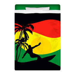 "Eco Friendly ""Surfer Mon"" Twin Size Sheet Set - Twin Size ""Reggae-Rasta Flavored"" Surfer Mon Sheet Set is made of a lightweight microfiber for the ultimate experience in softness~ extremely breathable!"