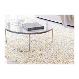 Design Within Reach - Nesta Rug | Design Within Reach - Even though you may have to roll it up and take it back in the house with you at the end of your date night, why not roll out a shag throw rug to sink your toes in?!
