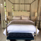 Polished Stainless Steel Canopy Bed - Gary Brown