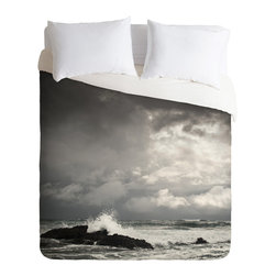 DENY Designs - DENY Designs Bird Wanna Whistle White Water Duvet Cover - Lightweight - Turn your basic, boring down comforter into the super stylish focal point of your bedroom. Our Lightweight Duvet is made from an ultra soft, lightweight woven polyester, ivory-colored top with a 100% polyester, ivory-colored bottom. They include a hidden zipper with interior corner ties to secure your comforter. It is comfy, fade-resistant, machine washable and custom printed for each and every customer. If you're looking for a heavier duvet option, be sure to check out our Luxe Duvets!
