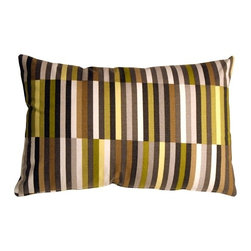 Pillow Decor - Pillow Decor - Waverly Side Step Avocado 16 x 24 Throw Pillow - The Waverly Side Step Throw Pillow offers you a fresh print pattern that is eclectic and modern. The design is a striking retro graphic that will bring any room to life. The pillow is made from a 100% cotton medium weight fabric. It is double sided with the pattern on the back and front, and is finished with a matching color zipper. This pillow is fantastic alongside other solid color throw pillows. You have so many shades to mix and match from the pillows vibrant color palette.