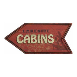 iMax - Hartshorn Cabins Arrow Sign - Point the way down memory lane to summer camp and grandpa's lake cabin with the Hartshorn cabins arrow sign.