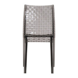 Kartell - Ami Ami Chair, Set of 2, Smoke - This iconic chair proves that it's hip to be square. Its simple, squared off lines achieve the pleasing look of weaving — all created through a complex process of using a single polycarbonate mold. Scratch- and shock-resistant, it's perfectly at home in any area of your house, or you can even take the party outside and stack them up at the end of the evening.