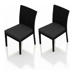 Urbana 2-Piece Patio Dining Chair Set, Charcoal Cushions