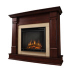 Real Flame - Real Flame Silverton Indoor Electric Fireplace in Dark Mahogany - Real Flame - Electric Fireplaces - G8600EDM Curl up by the comforting glow of the Vivid Flame Electric fireplace anywhere in your home. Ideal for living rooms, family rooms or bedrooms, the free-standing Silverton offers clean lines and transitional styling that will add instant ambiance to any home. Available in white, dark mahogany and black. The Vivid Flame Electric Firebox plugs into any standard outlet for convenient set up. The features include remote control, programmable thermostat, timer function, brightness settings and ultra bright Vivid Flame LED technology.