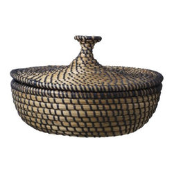 Johanna Jelinek - ÅSUNDEN Basket with lid - This pretty handmade basket with a lid for is perfect for the bathroom for hair items, brushes and jewelry.