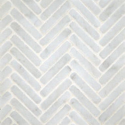 Ann Sacks Stone Mosaics - I'm a nut for herringbone patterns and I love this tumbled marble one for a bathroom or inset behind a stove.