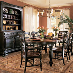 Hooker Furniture - Hooker Furniture Indigo Creek Oval Dining Table with two 20-inch leaves 332-75-2 - Includes only Hooker Furniture Indigo Creek Oval Dining Table with two 20 inch leaves 332-75-200.