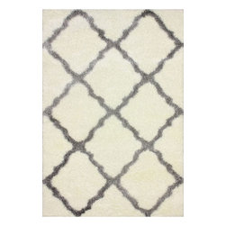 """nuLOOM - Shags Contemporary 2' 8"""" x 8' Grey Machine Made Area Rug Trellis Shag - Made from the finest materials in the world and with the uttermost care, our rugs are a great addition to your home."""