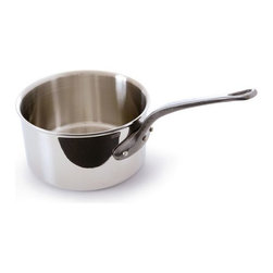 Mauviel - Mauviel M'cook Stainless Steel Saucepan, Cast Iron Handle, 2.7 qt. - 5 ply Construction - High performance cookware, works on all cooking surfaces, including induction.