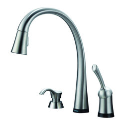 Delta - Pilar Single Handle Pull-Down Kitchen Faucet and Soap Dispenser - Delta 980T-SSSD-DST Pilar Single Handle Pull-Down Kitchen Faucet and Soap Dispenser with Touch2O and Diamond Seal Technology in Stainless.