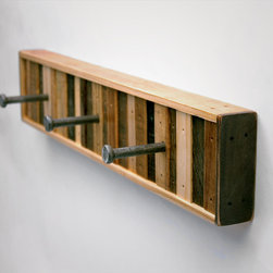 Chonko 3 Hook Coat Rack - 3 Hook Coat Rack Recycled Wood (Made to Order)