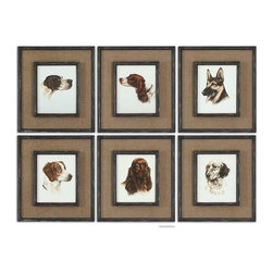 Uttermost - Uttermost Special Friends Wall Art Set of 6 - 55001 - Uttermost's art combines premium quality materials with unique high-style design