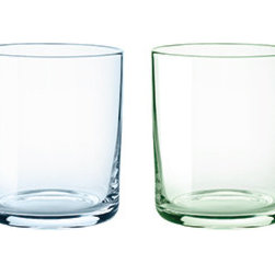 Stelton - Stelton - Simply Glass 4pc Set - 10.1oz - Simply glasses in a minimalistic form language and in colors matching the summer table. Paring perfectly with the Simply Carafe, this elegant design will decorate every festive table and are suitable for every day use as well. The glasses come in a gift box with 4 pieces in light shades of turquoise green, pink, blue and yellow bringing joy and colors to everyday life. 10.1oz