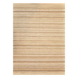 """Loloi Rugs - Loloi Rugs Green Valley Collection - Beige Stripe, 5' x 7'-6"""" - Hand woven in India of seagrass and cotton, the Green Valley Collection breathes organic beauty in the floors of any home with these solid and striped designs. And with a raw textural surface, Green Valley adds a distinctly natural vibe to the room."""