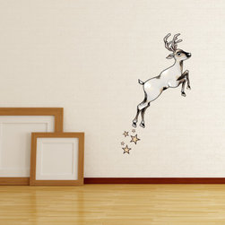 Christmas Reindeer Vinyl Wall Decal ChristmasReindeerUScolor001; 23 in. - Vinyl Wall Decals are an awesome way to bring a room to life!