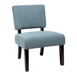 Avenue Six Jasmine Accent Chair, Finesse Azure - I have this in my daughter's room at her desk. It's a beautiful, soft blue color.