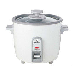 Zojirushi - Zojirushi NHS-06 Rice Cooker and Steamer, 3 cup - -Easy-to-use single switch control