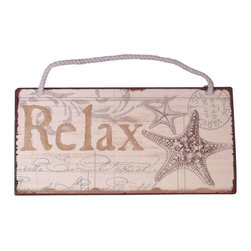 "Handcrafted Model Ships - Tin Relax Sign 8"" Nautical Decorations For Home Beach Interior Decorating - New - Feel the cool, crisp ocean breeze blow in off the Atlantic, the tolls of harbor and ship bells ringing out through the misty morning, and enjoy handcrafted nautical decor's enchanting nautical themed signs. Adorn your home with classic seafaring style, add to your collection of charming nautical treasures, or place this Tin Relax Sign 8"" aboard your very own vessel. With the perfect Nautical Themed Sign express your love of the sea, the freedom of the open ocean, and the timelessly serene ambiance of nautical life."