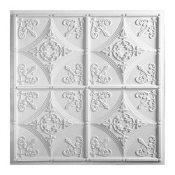 """Cathedral Ceiling Tile - White - Perfect for both commercial and residential applications, these tiles are made from thick .03"""" vinyl plastic. Their lightweight yet durable construction make these tiles easy to install. Waterproof, these tiles are washable and won't stain due to humidity or mildew. A perfect choice for anyone wanting to add that designer touch at an amazing price."""
