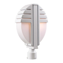 PLC Lighting - PLC 2 Light Outdoor Post Mount Synchro Collection 1831/CFL WH - -Finish: White