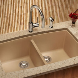 Blanco BLANCOPERFORMA Equal Double Bowl 441473 - What makes our double bowl design truly stand apart is its ability to withstand everything from scratches and chips to burns and stains. Plus, it comes in seven classic colors to complement your kitchen and your style