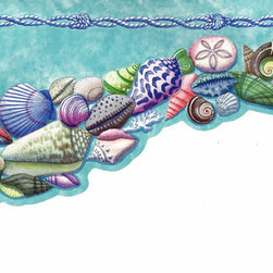 York Wallcoverings - Sea World Wallpaper Border SA105636B - Wallpaper borders bring color, character and detail to a room with exciting new look for your walls - easier and quicker then ever.