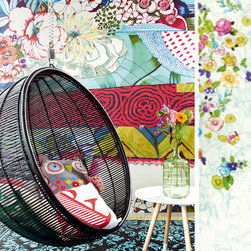 Raval - A global inspired room designed in a patchwork of pretty colors and patterns.