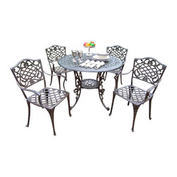 """Oakland Living - Oakland Living Mississippi Lattice Pattern 42"""" 5-Piece Dining Set - Oakland Living - Patio Dining Sets - 201121125AB - About This Product:"""