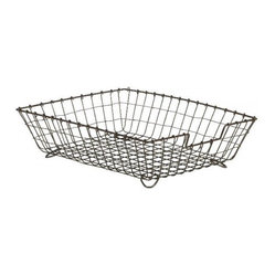 "Desk Top Basket, Natural Metal, Regular (14"" X 11"" X 4"")"