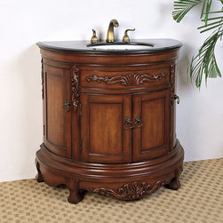 None - Granite Top 36-inch Single Sink Vanity - This single sink vanity is perfect for your next bathroom remodel. Featuring classic detailing,this traditional furniture piece brings elegance to any home.