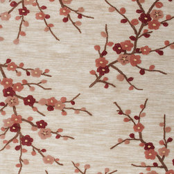 Jaipur Rugs - Transitional Floral Pattern Red /Orange Polyester Tufted Rug - BR02, 2x3 - A youthful spirit enlivens Esprit, a collection of contemporary rugs with joie de vivre! Punctuated by bold color and large-scale designs, this playful range packs a powerful design punch at a reasonable price.