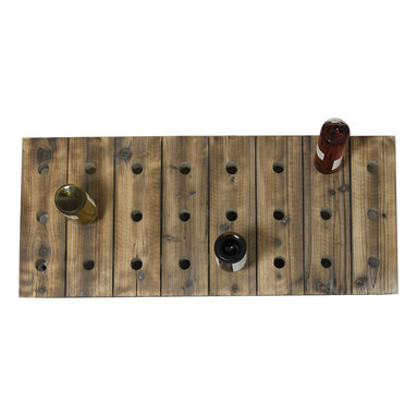 ecWorld - Urban Designs Weathered Wood Wall Wine Rack - 24 Bottle Display - Give a rich and authentic look to your wine collection with this aged by the elements wall wine rack.