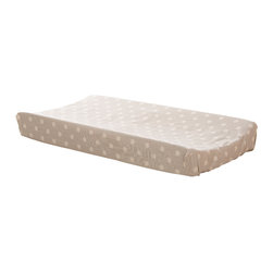 Glenna Jean - Glenna Jean Florence Changing Pad Cover (Grey Dot) - The Glenna Jean Florence Changing Pad Cover Grey Dot is made to fit a 17 x 31 contoured changing pad. 100 cotton fabric is machine washable and tumble dry low.