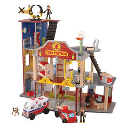 "KidKraft - Kidkraft Kids Children Home Indoor Pretend Play Toy Deluxe Fire Rescue Set - The young firefighters in your life are sure to get a kick out of our Deluxe Fire Rescue Set. With its vibrant colors and close attention to detail, this fun set is sure to keep imaginations running wild for a long time. Dimension: 31""Lx 17.5""Wx 24.75""H"
