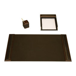 Dacasso - Dacasso Walnut & Leather 3-Piece Desk Set Brown - D8437 - Shop for Desk and Drawer Organizers from Hayneedle.com! About Dacasso Limited Inc Located in Gainesville Florida Dacasso offers quality desk sets and unbeatable customer service. Dacasso manufactures leather and wood desk accessories and their product line ranges from complete leather desk sets that perfectly present a professional look to leather calendar holders that provide organization for day-to-day responsibilities. A company that believes in its products and service Dacasso guarantees your satisfaction.