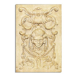 "Inviting Home - Oracle white oak door panel - hand carved door panel; 13-1/8""W X 19-3/8""H x 7/8""D Wood panels are hand carved from premium selected hardwoods: hard maple cherry and white oak. Panels are carved in deep relief design to achieve the highest degree of quality and details. Carved wood panels are triple sanded ready to accept stain or paint. These wood panels are perfect for wall applications cabinet doors finishing touches on the custom cabinets."