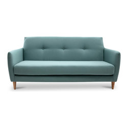Bryght - Ballot Jade Sofa - Sophisticated tones with a mid century modern appeal, the Ballot Sofa is a comfortable yet aesthetically pleasing piece. Dress it up with your favorite pillows and throws.