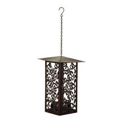 Chaparral Birdfeeder - This is a unique looking birdfeeder. It's so pretty it looks like it should be a lantern. Fill it up with feed and hang it somewhere you can enjoy it.